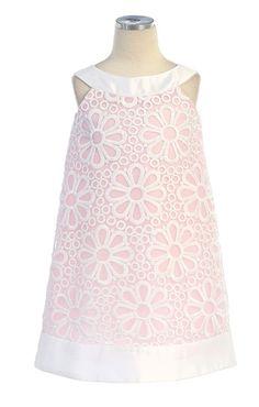 a59dfe15d2d0ab Adorable Sleeveless Organza Dress w  Daisy Eyelet Design Girl Dress. Meisjes  Jurken ...