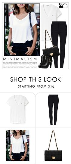 """""""Sheinside"""" by water-polo ❤ liked on Polyvore featuring Lacoste, WithChic, Sheinside, polyvoreeditorial and waterpolo"""