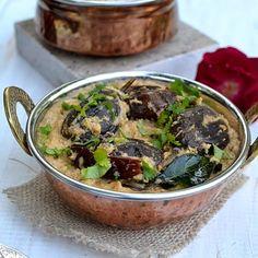 Bagara Baingan (Hyderabadi Baby Eggplants in Peanut-Coconut Gravy)