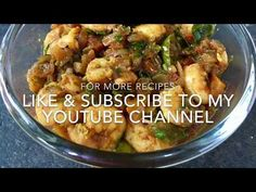A spicy and tangy prawn dish Prawn Dishes, Spicy Shrimp, Potato Salad, Fries, Chicken, Ethnic Recipes, Food, Youtube, Shrimp Dishes