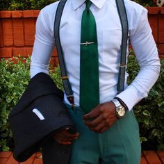 The Aesthetic Life Suspenders Fashion, Suspenders Outfit, Suit Fashion, Fashion Outfits, Mens Fashion, Men Looks, Mens Clothing Styles, Mens Fitness, Mens Suits
