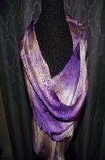 Hand Painted Silk Scard ~ PURPLE TLT 227 $35