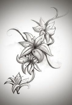 Lily tattoo designs for women. WANT!! by tiquis-miquis