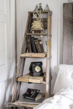 una vieja escalera, reusada para crear un espacio #shabbychic #reusa #recicla