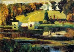 Okhtyrka, autumn -  Wassily Kandinsky, 1901, Post-Impressionism, landscape