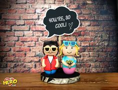 True Romance Wedding Cake Topper Clarence Alabama Retro. Every topper is handmade and can be fully customised, you can personalise everything. Order Now!
