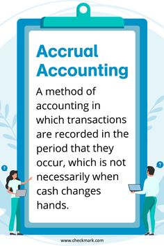 Accrual Accounting: A Method Os Accounting In Which transactions are Recorded in the Period that they occur, Which is Not Necessarily When Cash Changes Hands' Accounting Classes, Best Accounting Software, Accounting Basics, Accounting Course, Accounting Principles, Bookkeeping And Accounting, Bookkeeping Business, Small Business Accounting, Bookkeeping Services