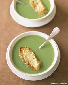 Broccoli  Boursin Soup literally SO GOOD. made exactly four