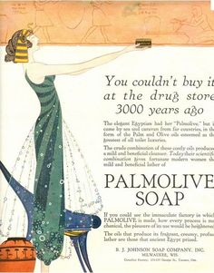 "Photo: Glamourologist  ""Palmolive was developed in 1898 by the B.J. Johnson Company and by 1900 was the worlds best selling soap. It was n..."