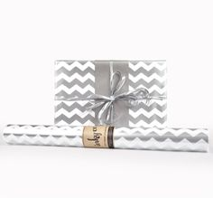 Inky Co. Chevron Silver Stripes roll wrap