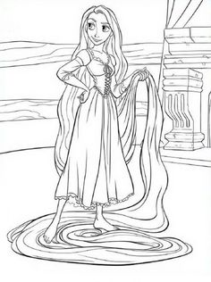 1000 images about coloring pages on pinterest coloring for Barbie as rapunzel coloring pages