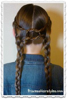 """Equestrian Braids"" Hairstyle Tutorial #knot #braid"