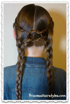 """Equestrian Braids"" Hairstyle Tutorial #knot #braid"