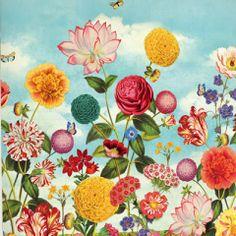 #Pip Wild Flowerland #fotowand van #Eijffinger. Lengte: 2.79 m x breedte 2.80 m. Maak een blikvanger van elke ruimte in huis!