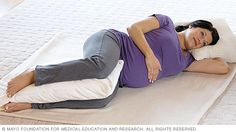 Woman in labor lying on her side