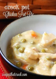 Crock Pot Chicken Pot Pie - Recipes That Crock! Easy crockpot recipes.