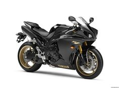 Yamaha YZF-R1 sport-bikes    I would replace the gold with either black, silver, or a really pretty deep purple.