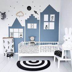 Kinderzimmer mommo design: BLUE ROOMS Understanding Shutters Article Body: In addition to adding sty Baby Boy Rooms, Baby Bedroom, Baby Room Decor, Kids Bedroom, White Bedroom, Ideas Habitaciones, Deco Kids, Baby Room Colors, Baby Room Design