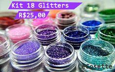 Kit 18 Glitters R$25,00