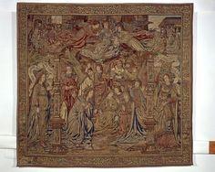 Textil- és Viseletgyűjtemény | Iparművészeti Múzeum Jézus születése, brüsszeli kárpit, 1507 után