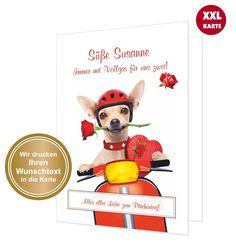 Text ändern DIN A4 mit Umschlag riesige Karte süß Liebe Valentinskarte Wolke