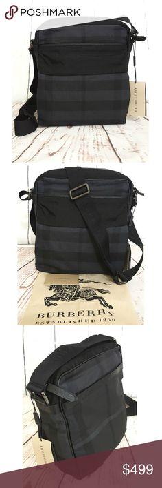 cf382b0b1654 NWT Burberry Beat Nylon Jacquard Howard Crossbody    100% GUARANTEED  AUTHENTIC OR YOUR