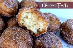 Churro Puffs - All the goodness of a churro, without the fuss. Baked NOT fried! Yum!