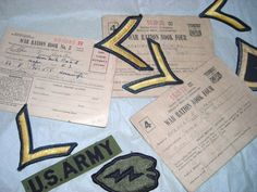 War Ration Books...World War Two Patches .. No.3 and