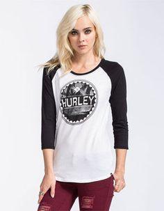 HURLEY Bottle Cap Womens Baseball Tee