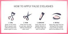 How to apply false eyelashes by shu uemura