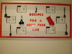 Decoration Ideas for your School,College Bulletin Boards on Red Ribbon Week 2013