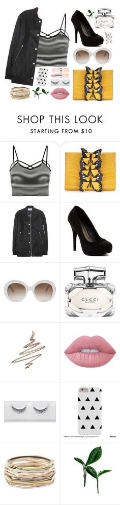"""Untitled #59"" by lauralooloo99 ❤ liked on Polyvore featuring Nancy Gonzalez, Acne Studios, Michael Antonio, Gucci, Anastasia Beverly Hills, Lime Crime and Kendra Scott"