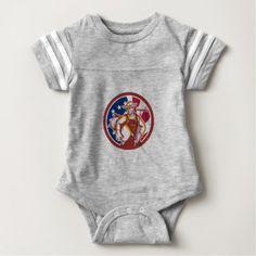 American Organic Farmer USA Flag Icon Baby Bodysuit custom gift ideas diy