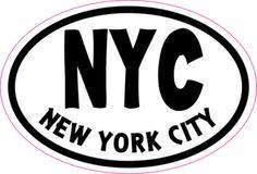 Oval NYC New York City sticker