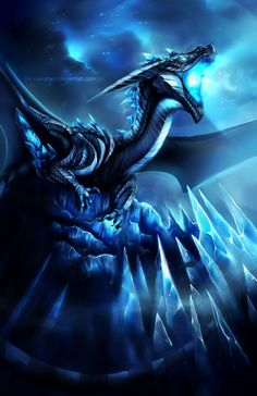 The Ice Dragon on deviantart Fantasy, Fantasy Art, Dragon Artwork, Creature Art, Beast, Artwork, Dragon Pictures, Fantasy Dragon, Mythical Creatures Art