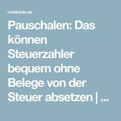 Pauschalen: Das können Steuerzahler bequem ohne Belege von der Steuer absetzen | Kölner Stadt-Anzeiger