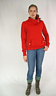 Running With Scissors: Simple Blouse Variation: Standing Collar Sweatshirt Collared Sweatshirt, Graphic Sweatshirt, Sweatshirt Makeover, Refashion, Scissors, Running, Sewing, Sweatshirts, Simple
