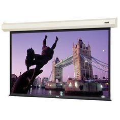 """Cosmopolitan Electrol HC High Power Projection Screen - 65"""" x 116"""" HDTV Format by Da-Lite. $1096.50. 71277 Features: -Ideal for applications where a recessed installation is not desired or feasible.-Patented in-the-roller motor mounting system for quiet operation.-Handsome white case blends with any decor.-Also available for the front cover of the screen case for a warm, elegant look available for the screen case for a warm, elegant look.-Screen surface can be cle..."""
