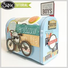 Sizzix Tutorial | Altered Mailbox by Genevive Rulona