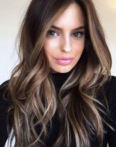 Long Wavy Ash-Brown Balayage - 20 Light Brown Hair Color Ideas for Your New Look - The Trending Hairstyle Brown Hair With Highlights, Brown Hair Colors, Brown Sombre Hair, Dark Highlighted Hair, Highlighted Hair For Brunettes, Brown Balyage, Carmel Highlights, Summer Highlights, Hair Colour