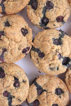 Vegan Blueberry Flax Breakfast Muffins