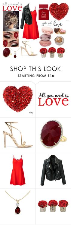 """""""All You Need Is Love"""" by lupa-di-bella1 ❤ liked on Polyvore featuring Brewster Home Fashions, Gianvito Rossi, Miss Selfridge, The French Bee and Bella Freud"""