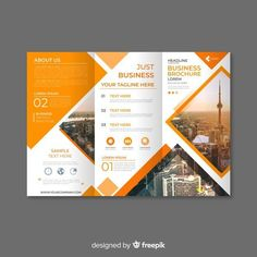 Trifold brochure Vectors Photos and PSD files Brochure Indesign, 3 Fold Brochure, Template Brochure, Brochure Examples, Brochure Layout, Free Brochure, Flyer Template, Graphic Design Brochure, Corporate Brochure Design