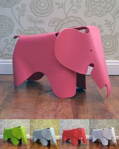 Eames elephant, children's stool...oooh pink...