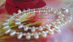 Weisse Perlen Kette Collier Brautschmuck von ISABELLAS-EDELSTEINWELT auf DaWanda.com