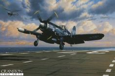 Corsair on Final by Stan Stokes. - Cranston Fine Arts Aviation, Military and Naval Art