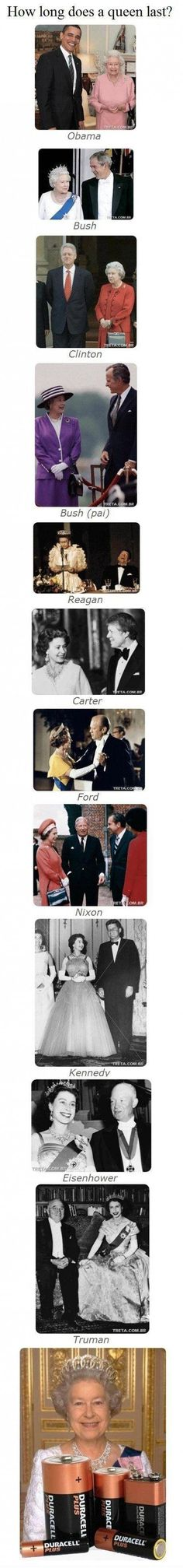 Hate the last picture with the batteries, but it is really cool to see the queen with all of those presidents.