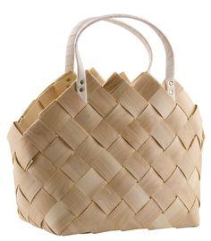 Näverkorg TOTE med handtag, House Doctor House Doctor, Design Projects, Kids Room, Creations, Basket, Shoulder Bag, Bags, Handmade, Nature