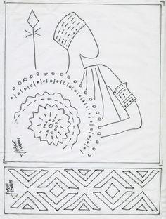 Manualidades y Negocios en la Revista©: Cuadro Africano
