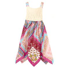 Printed Sundress with Crochet Bodice $11.99